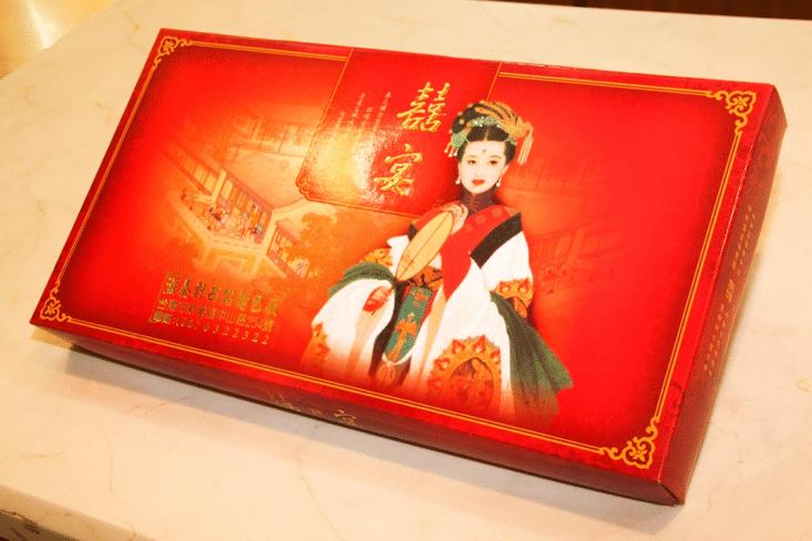 滋養軒喜餅傳統盒裝蓋子