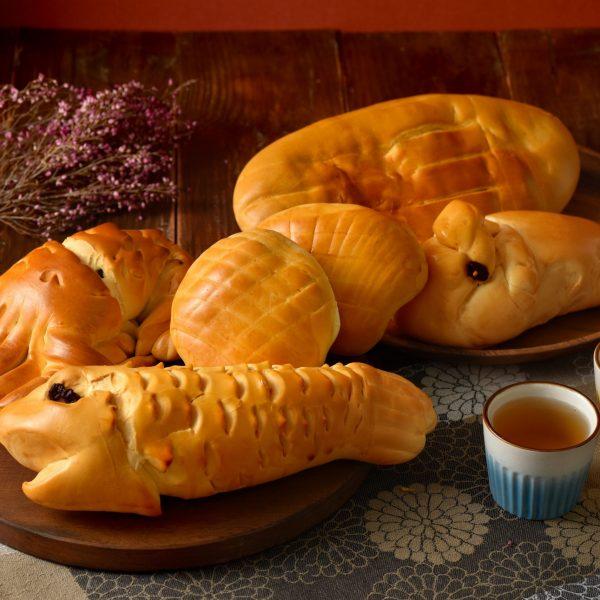 滋養軒五牲麵包素食牲禮(蛋奶素)- 雞、豬、魚、龍蝦、蛤蜊